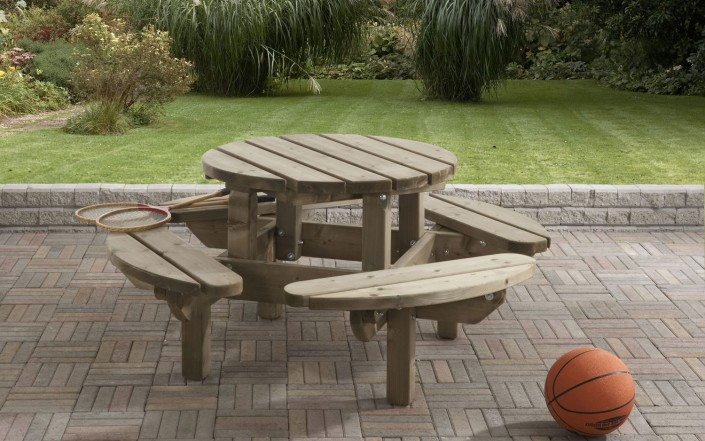 gartenm bel picknicktafel aus holz von zaun world stadtlohn. Black Bedroom Furniture Sets. Home Design Ideas